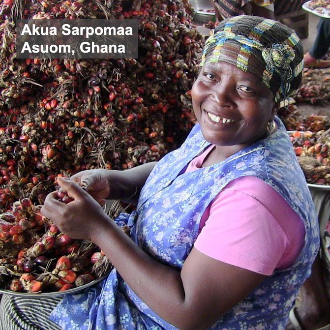 akua sarpomaa processes palm fruits for our fair trade organic palm oil at our facility in. Black Bedroom Furniture Sets. Home Design Ideas