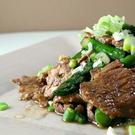 Recipe: Niku Aspara Itame (stir fried beef and asparagus with jalapeno ...