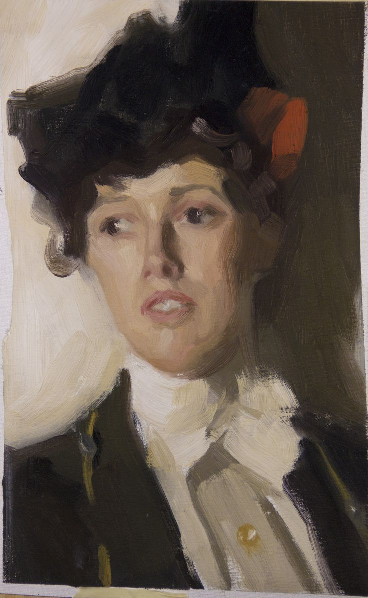 Study after Anders Zorn's Martha Dana, 2014. By Frank Top.