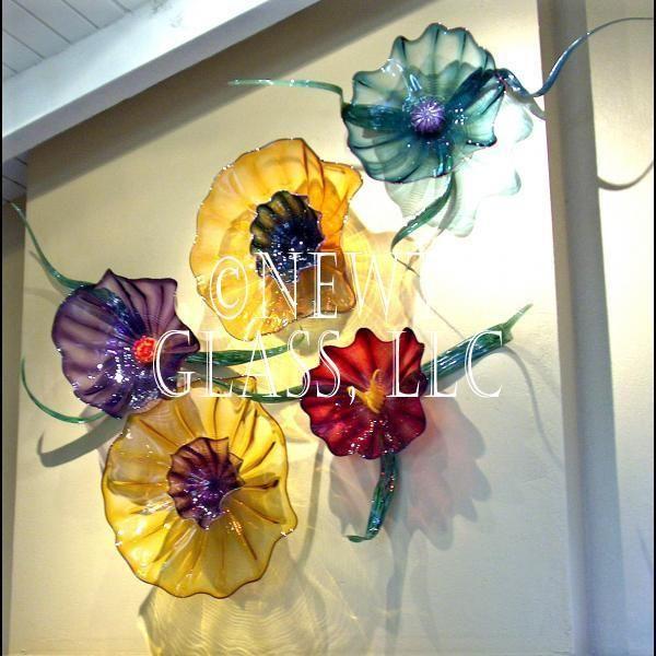 Wall All New Blown Glass Wall Decor Blown Glass Wall Art Glass Wall Art Art Glass Flowers