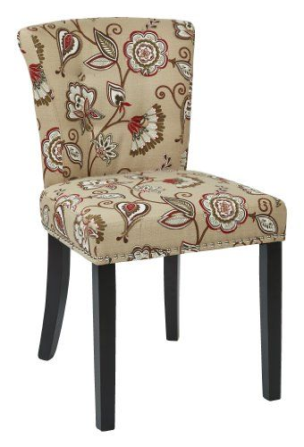 AVE SIX Kendal Tufted And Inner Spring Chair With Nailhead Detail And Solid  Wood Legs,