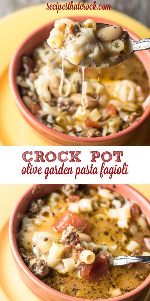 Olive Garden Pasta Fagioli {Crock Pot Copycat}