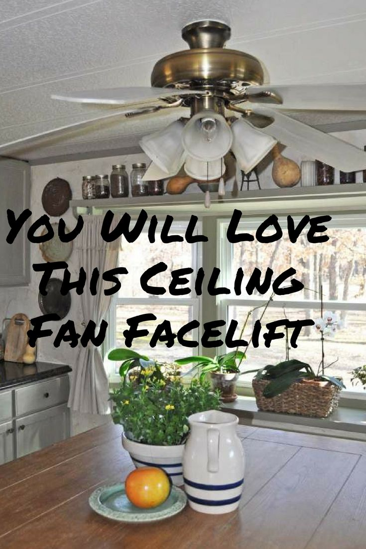 Ceiling Fan Face Lift A Big Impact On A Small Budget Ceiling Fan Home Repair Mobile Home Repair