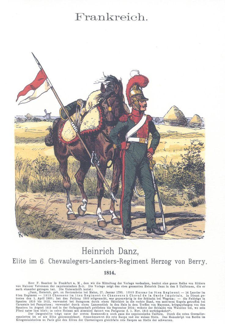 Vol 17 - Pl 53 - Frankreich. 6. Chevaulegers-Lanciers-Rgt. Herzog von Berry 1814.