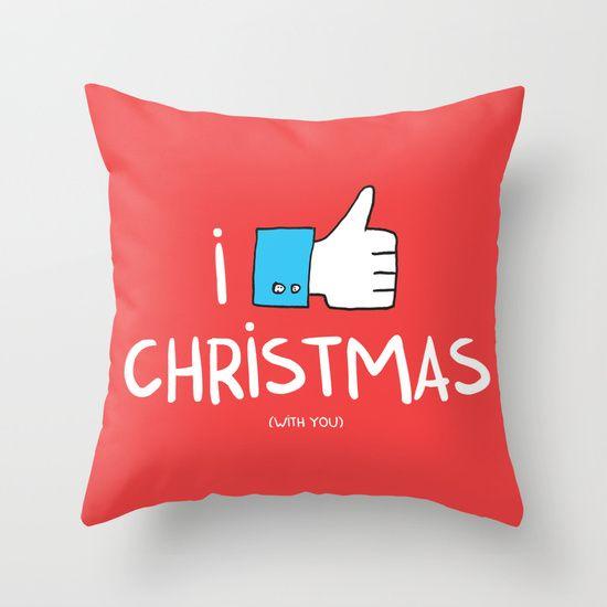 i like Christmas (with you) Throw Pillow
