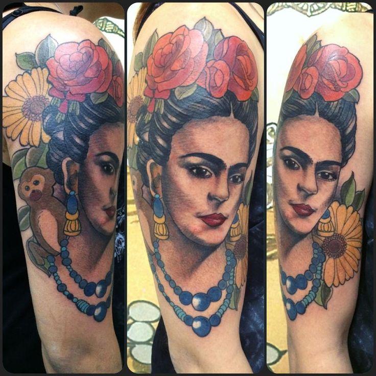Frida Kahlo, tattoo by Monique Peres