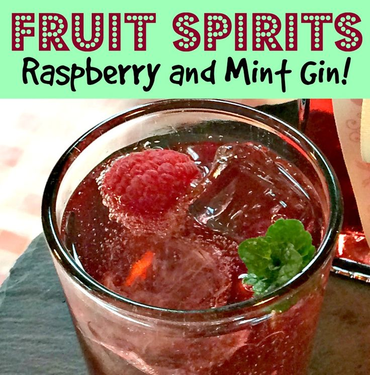 Raspberry and Mint Gin - Tiltle