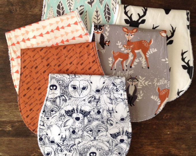 Burp Cloths-Burp Clothes-Burp Cloth Set-Deer Head Burp Cloth-Baby Gift-Burp Cloth-Burp Cloth Girl-Woodland Burp Cloth-Arrow Burp Cloths-