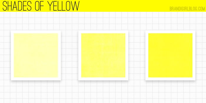 using yellow shades of yellow color inspirations pinterest