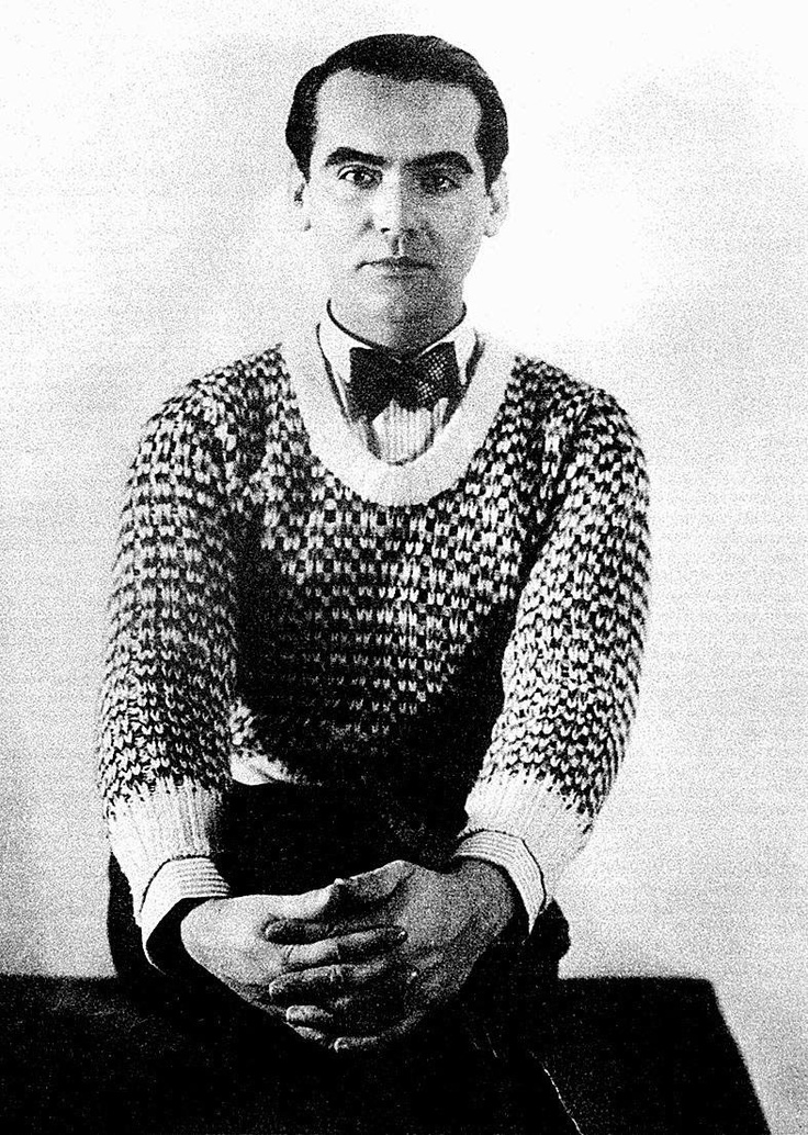 Federico Garcia Lorca. Creative genius can only be judged on their work. Not on what they wear. Not on their sexual preferences. Not on their politics.