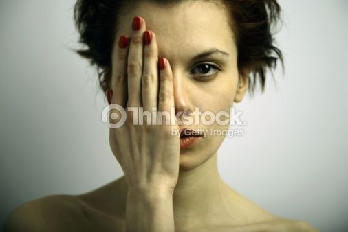 Stock Photo : Elegante young emotional woman
