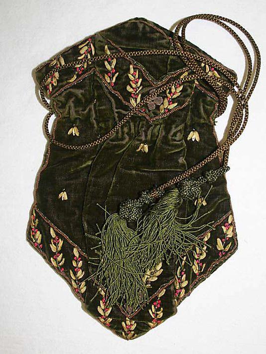 Bag (Reticule), early 19th century. Metropolitan Museum of Art.
