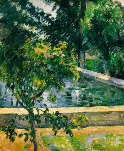 The Pool at Jas de Bouffan by Paul Cezanne