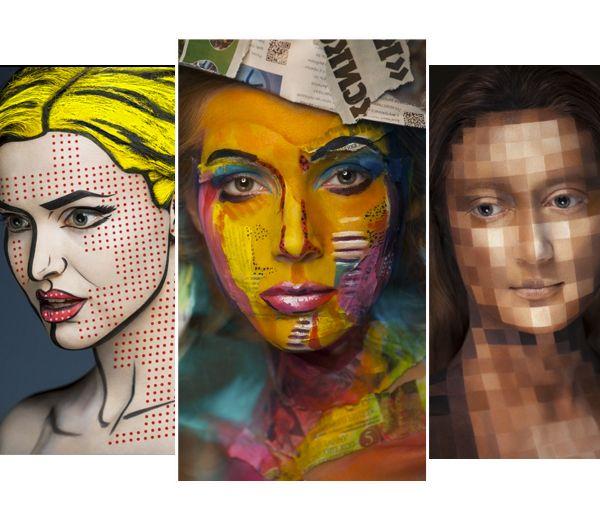 Russische make-up artieste transformeert modellen tot kunstwerken