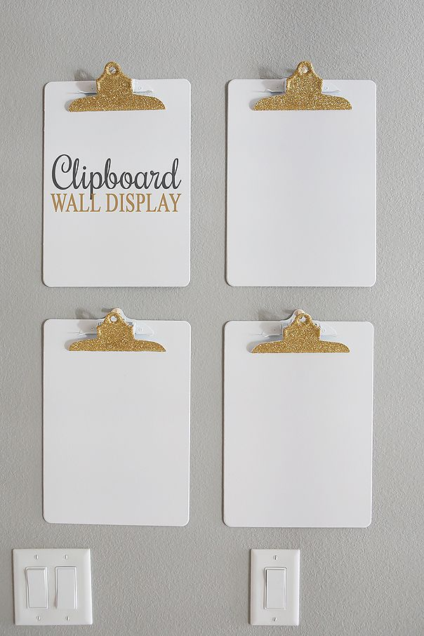 Clipboard Wall Display | Fun and Inexpensive way to display kids artwork or even…