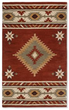 Navajo Center Diamond Rug - crow's nest trading