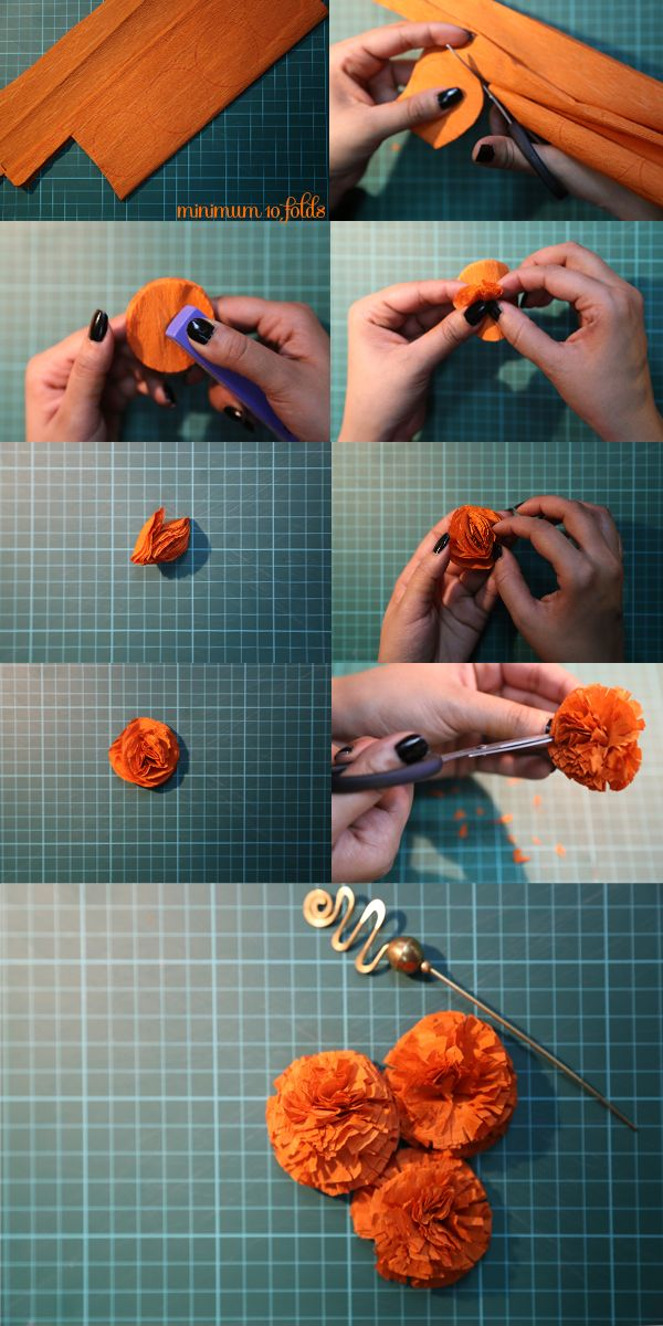 Our very own Indian Marigold DIY…. #craft #indian #diy #crepe paper #marigolds – Eлена Дик