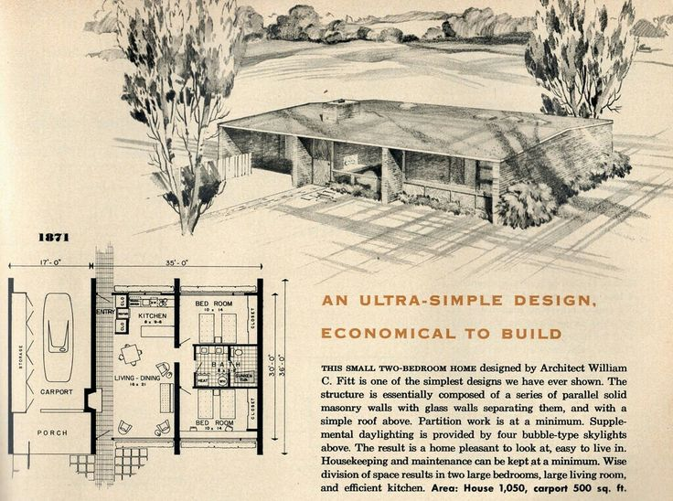 154 best Mid-century architectural drawings images on Pinterest ...