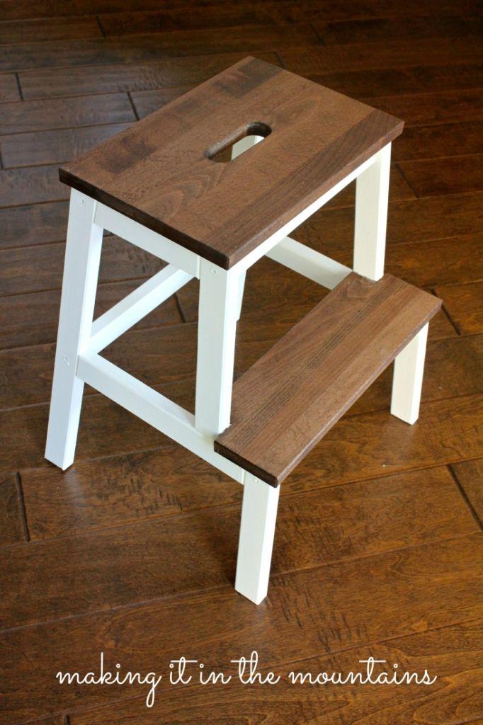 A Quick and Easy IKEA Step Stool Makeover & Best 25+ Ikea stool ideas on Pinterest | Fuzzy stool Diy stool ... islam-shia.org