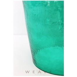 CARAFE GLASS LAMP BASE - GREEN