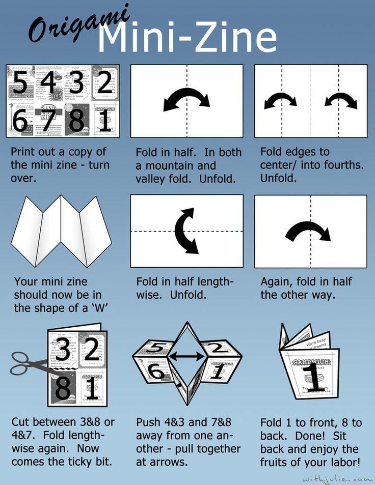 origami mini book instructions