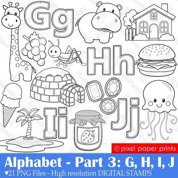 abecedario G,H, I, J
