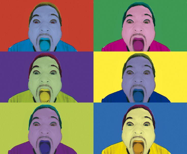 Andy Warhol pop art. solis. insanity. colors. art