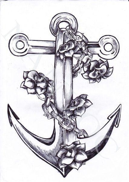 Znalezione obrazy dla zapytania kotwica z syrena tatuaz