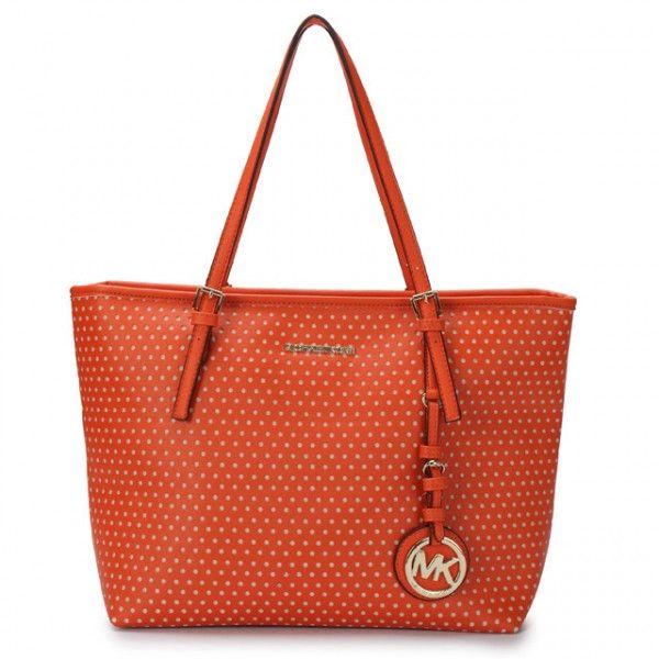Perforate Michael Kors Jet Set Bag, Orange
