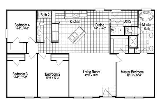 30x50 floor plans | copyright 2014 palm harbor homes all rights reserved