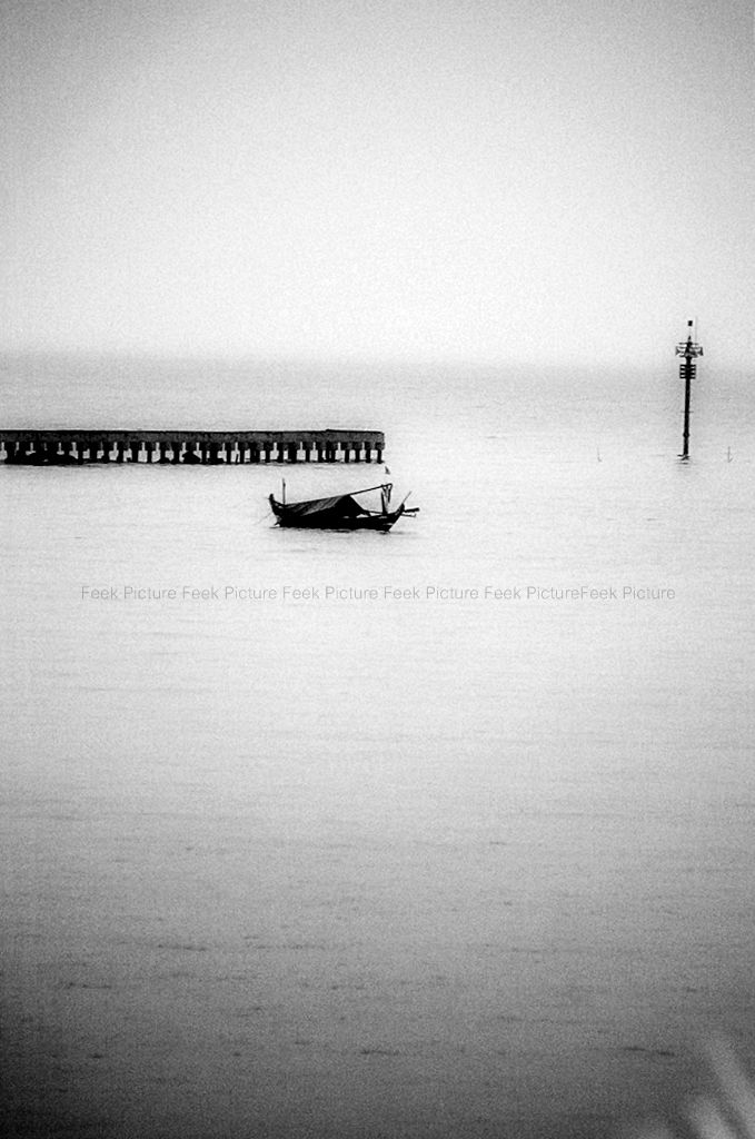 alone by fikha astrida - with courage and skill against the waves don't be afraid to cross the shore. even if only with an old boat and your are alone