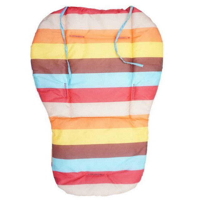 Double-side Striped Waterproof Baby Stroller Cushion, Pram Pad,Baby Chair/Car Seat Pads, Baby Stroller Accessories