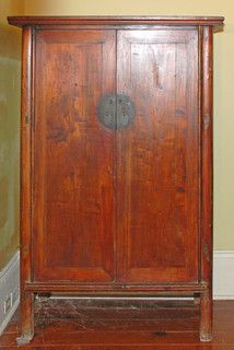 Antique Asian Armoire - asian - bedroom products - new orleans - by Silk Road Collection