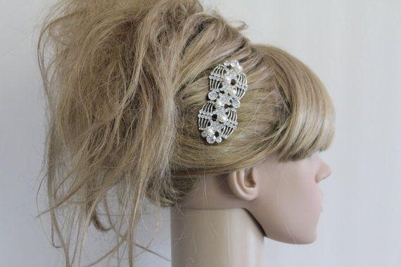 Peigne à cheveux de mariée perles, Accessoires cheveux mariage, bijoux de cheveux de mariage, morceau de cheveux mariage, Accessoires cheveux de mariée, pièce de tête mariage, mariée