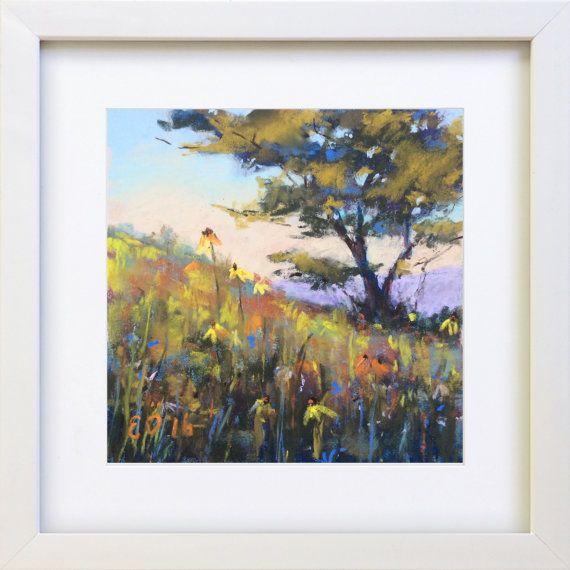 Original Pastel Painting Spring by Bluishpurpletrees on Etsy