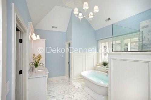 Güzel mavi banyo dekorasyonu Galeri