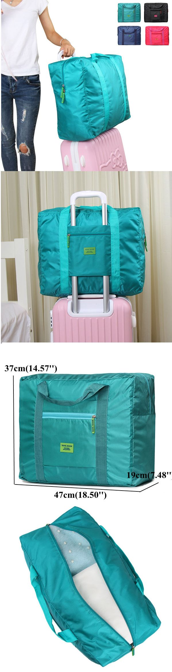 US$8.52 Four Colors Casual Nylon Waterproof Storage Bag Folding Travel Bag