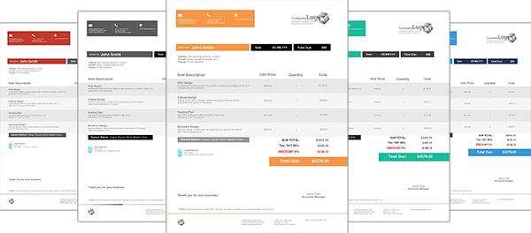 Image result for beautiful invoice designs