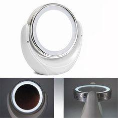 #Banggood LED Двусторонний поворотный косметическое зеркало для макияжа леди красоты лица рабочего стола свет (1069471) #SuperDeals