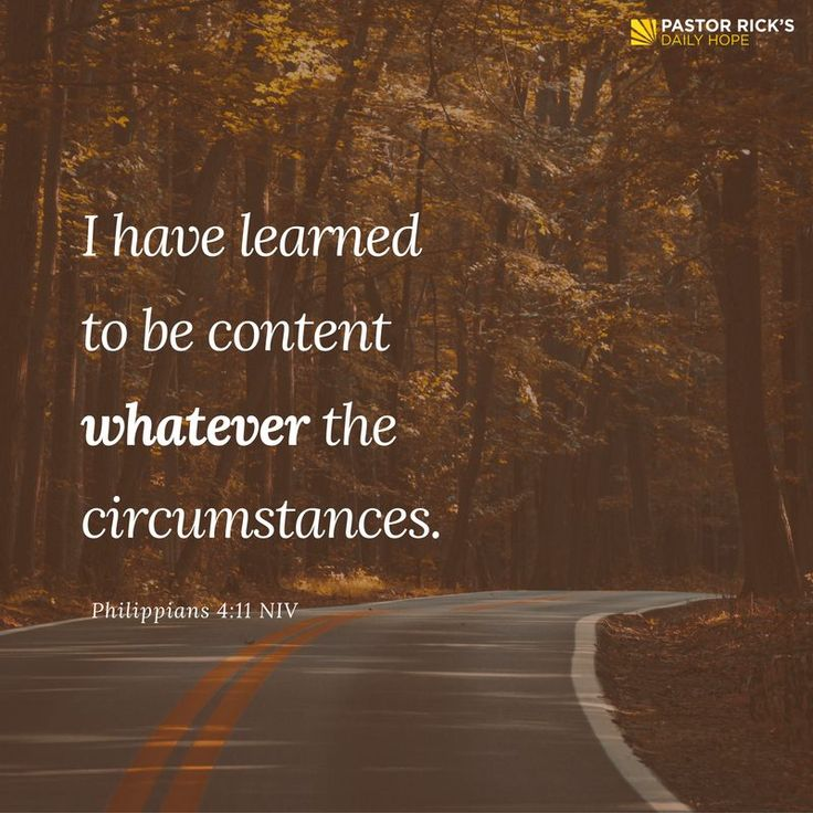 """If you're serious about slowing down, you don't start with your schedule. You start with your heart. Paul says in Philippians 4:11, """"I have learned to be content whatever the circumstances"""" (NIV). Learn more in this devotional from Pastor Rick's Daily Hope."""
