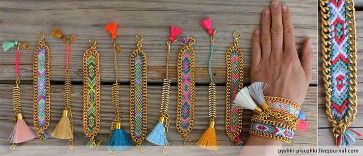 Лето. Хочется ярких красок и праздника. Как раз для таких случаев существуют браслеты дружбы, сплетённые из шерсти или хлопка хиппи-поделки, которыми обычно…