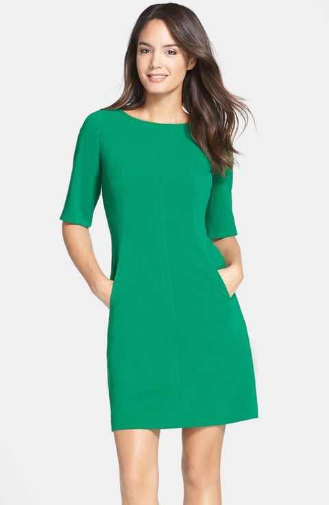Tahari Seamed A-Line Dress (Regular & Petite) $64