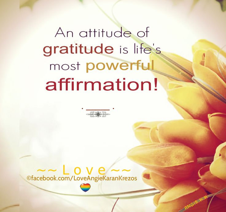 Love Each Other When Two Souls: An Attitude Of Gratitude Is Life's Most Powerful