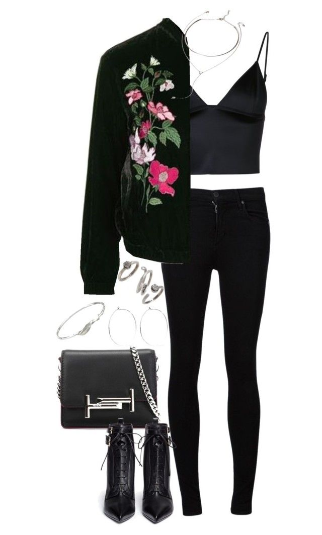 """""""Sem título #1186"""" by manoella-f on Polyvore featuring moda, Citizens of Humanity, T By Alexander Wang, Topshop, Forever 21, Tod's, Sergio Rossi, Catbird, Collette Waudby e Kendra Scott"""