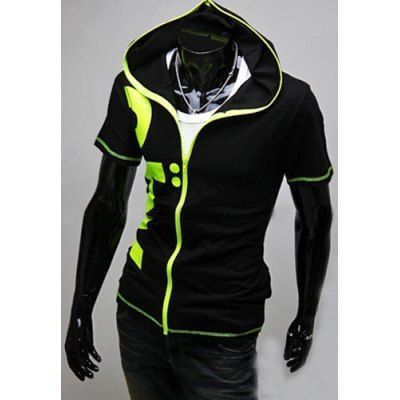 Material: Polyester, Cotton  Clothing Length: Regular  Sleeve Length: Short  Style: Fashion  Weight: 1KG  Package Contents: 1 x Hoodies