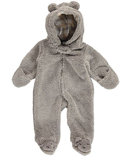 Carters Baby Boys Hooded Sherpa Bunting- so warm!