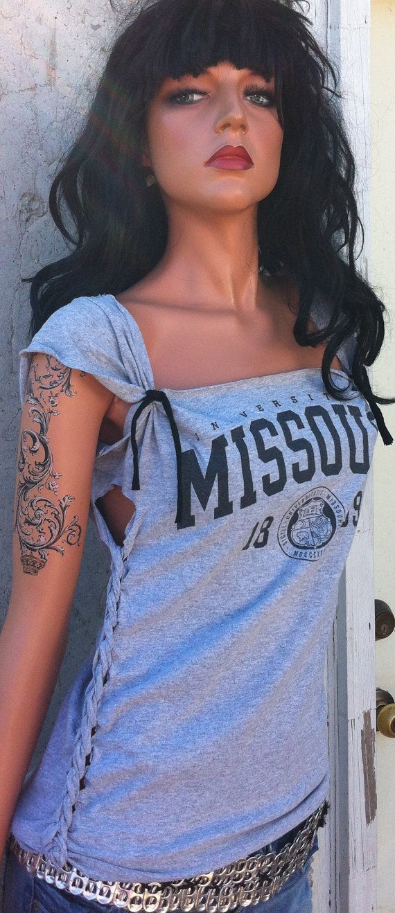 Mizzou Tigers Shredded Shirt by TShreds on Etsy, $28.00