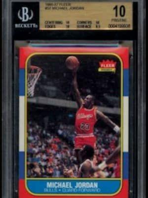 4. 1986-87 Fleer Michael Jordan Rookie Card - The Most Expensive Michael Jordan Memorabilia Ever Sold | Complex