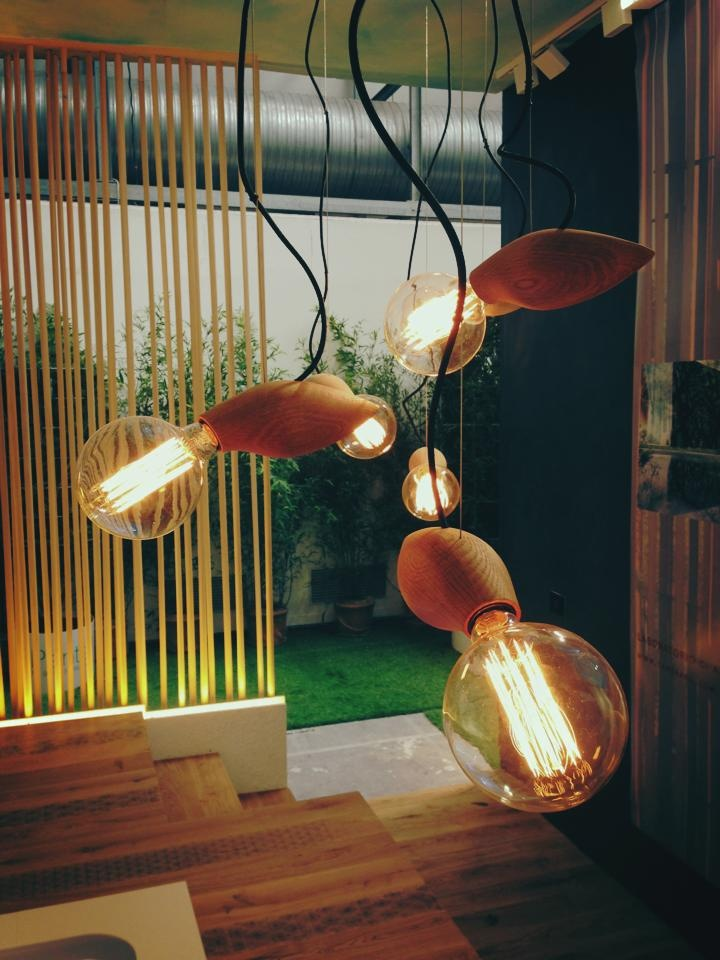 It's a Swarm! The new Swarm Lamp at the Milan Furniture Fair. See it. http://jangirmaddadi.se/swarm/