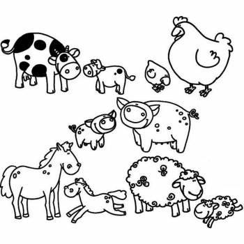 boerderijdieren kleurplaat zoeken met